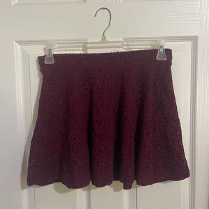 Forever 21 burgundy lace skirt